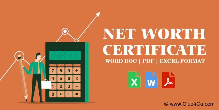 Net Worth Certificate Format for Individual, Proprietor
