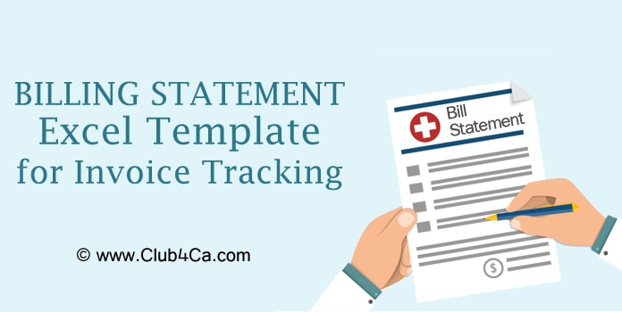 Billing Statement Excel Template, invoice Excel template