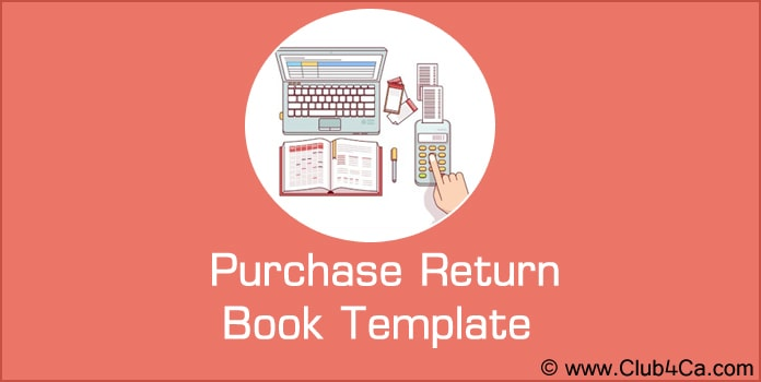Purchase Return Book Template, Purchase Return Book Excel Format