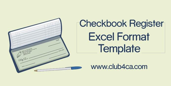 Checkbook Register Excel Format, Checkbook Register Worksheet Template