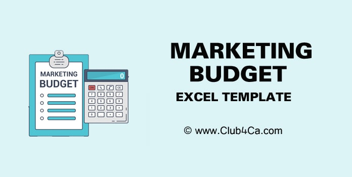 Marketing Budget Template, Marketing budget example Excel, Sample