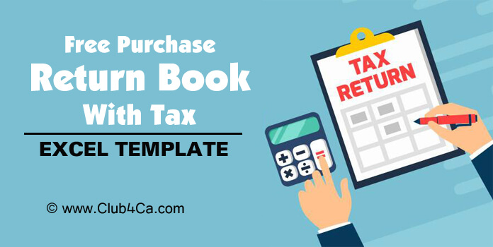 Free Purchase Return Book with Tax Excel Template