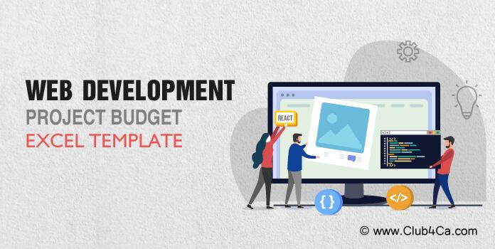 Website Development Project Budget Excel Template