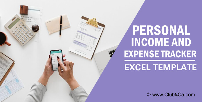 Personal Income and Expense Tracker spreadsheet Excel Template