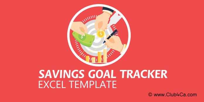 Savings goal tracker printable Excel Template