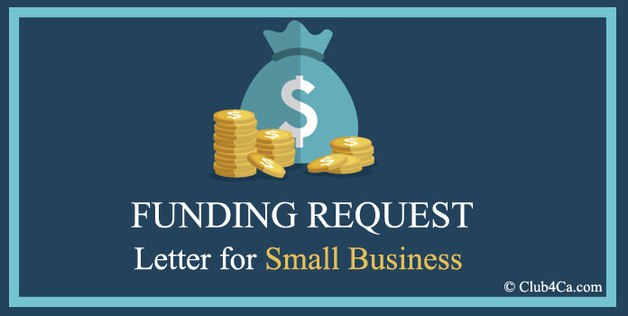Funding Request Letter for Small Business Template, Example