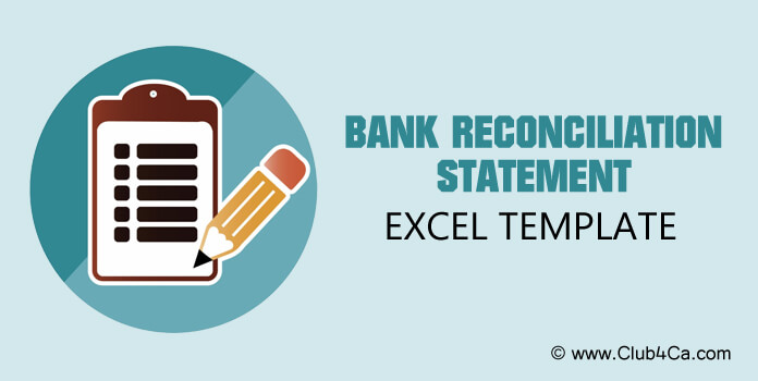 Bank reconciliation statement template Excel format