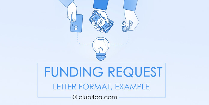 Sample Funding Request Letter Format, Example
